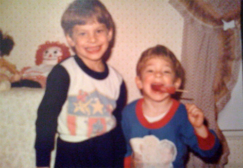 Me and Josh, way back when